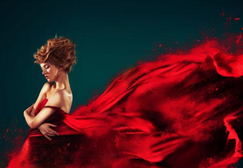 テクスチャーを表す美しい女性画像